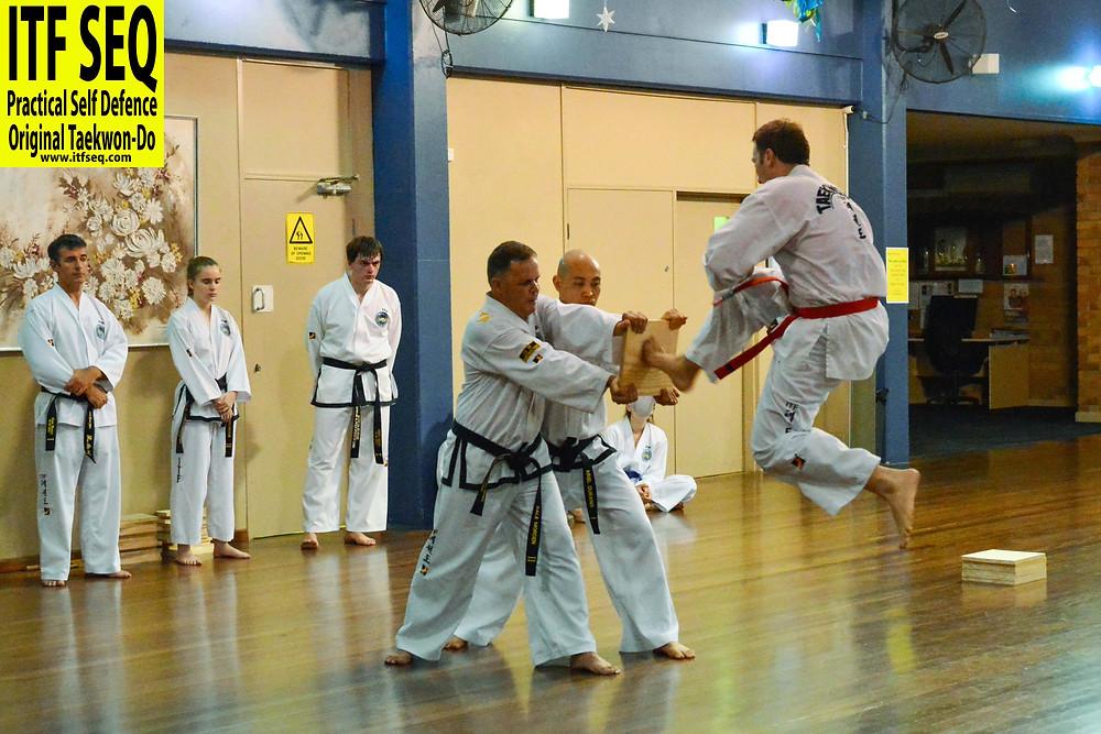 Jumping front kick