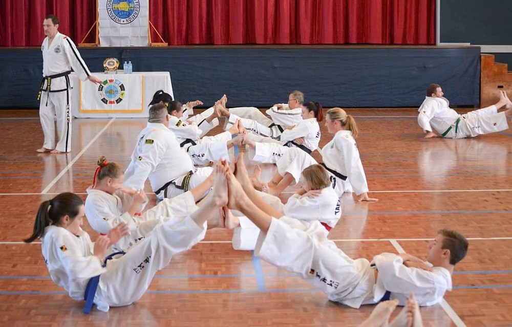 Class of Taekwon-Do students