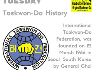 Taekwon-Do Tuesday - August 2016