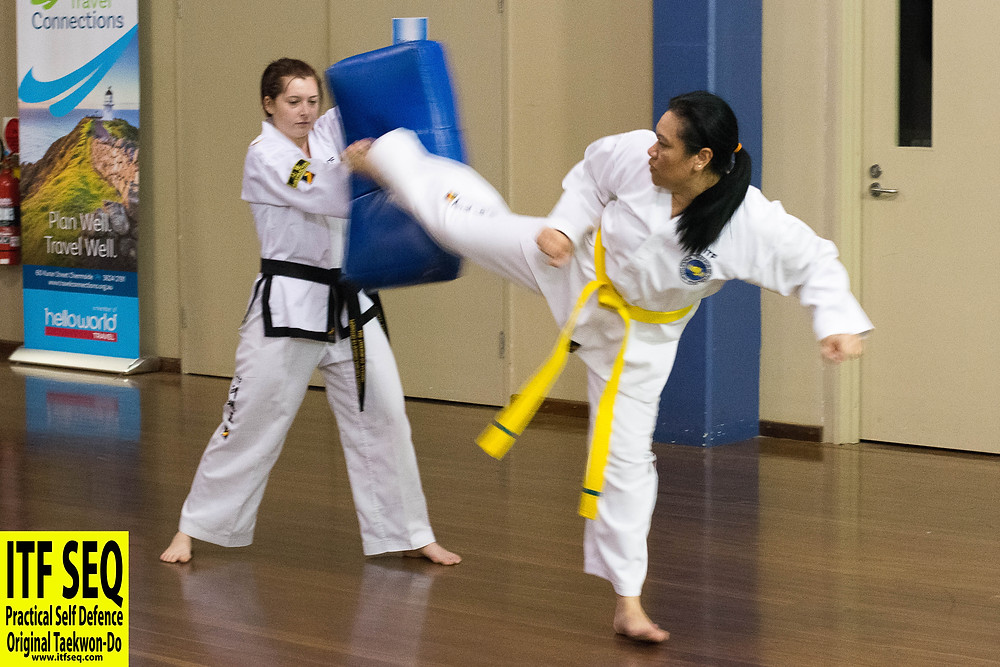 Taekwon-Do reverse turning kick