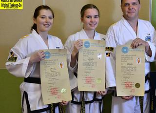 2nd Dan International Taekwon-Do Federation Certificates Awarded
