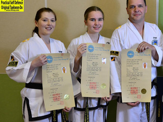 2nd Dan International Taekwon-Do Federation Certificates Awarded