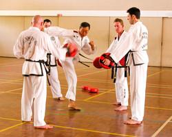 Sabum Jackson training for his 4th Dan testing
