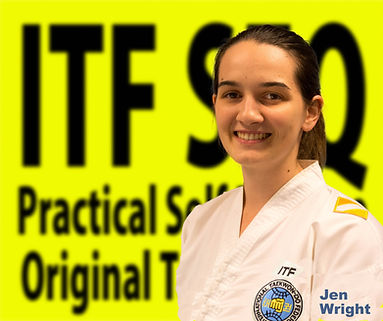 Jen Wright Taekwondo black belt in Chermside