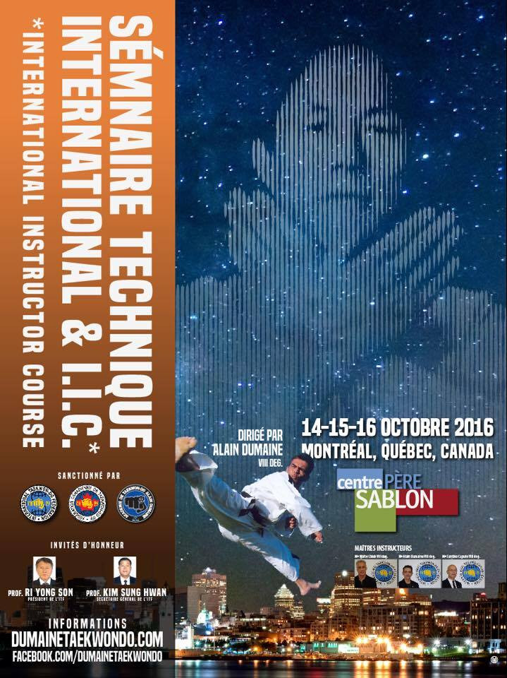 Poster of the Technical Seminar and International Instructor Course in Montreal