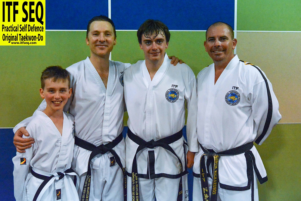 newly promoted black belts with Sabum Kris Richardson