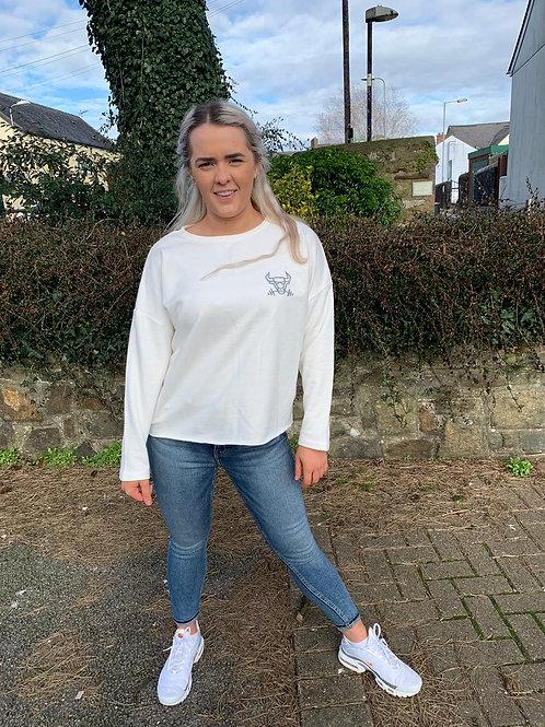 Off White Oversized Sweatshirt