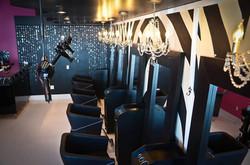 Zebra Print Walls and Chandeliers!!