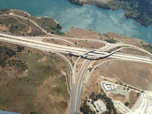 Freeway interchange construction
