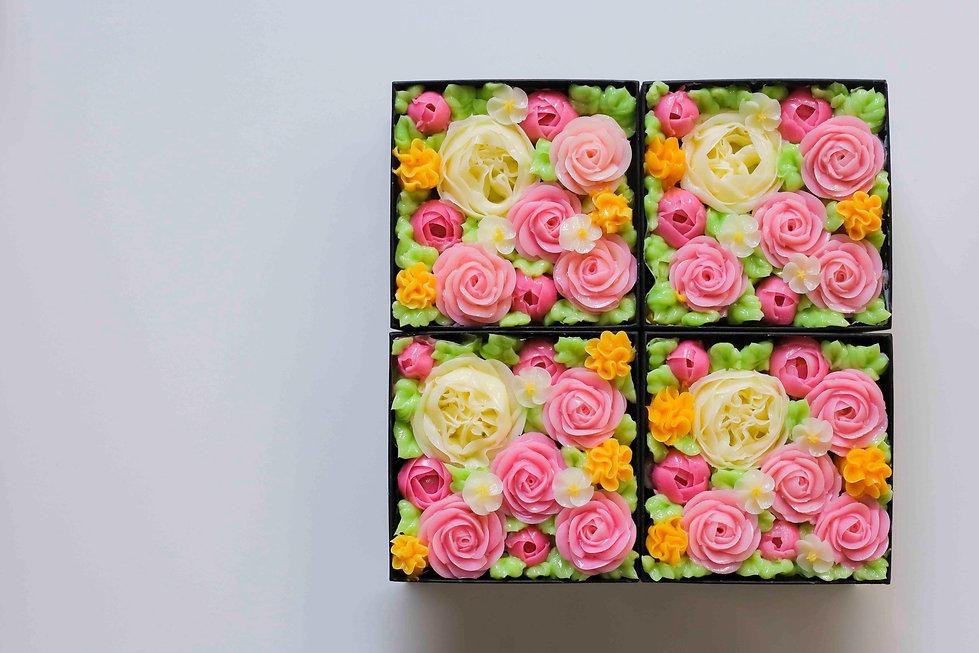 食べられるお花のケーキ