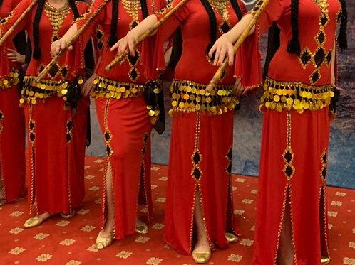 【4着〜受注製作】エジプト製フォークロアグループ衣装4着