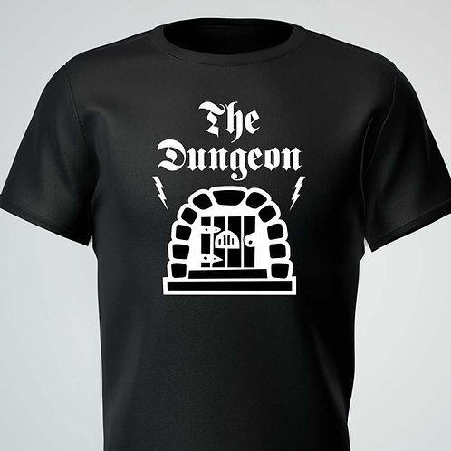The Dungeon Tee White Logo