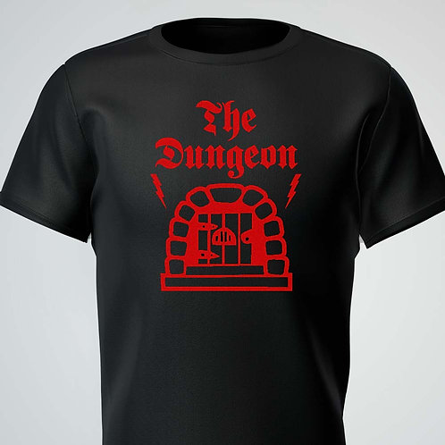 The Dungeon Tee Red Logo