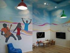ציורי קיר, ציור על קירות, ציורים לבתי ספר, מציירים על קירות, בית ספר וציורים