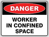 Danger Worker in Confined Space