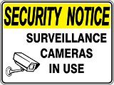 Security Notice Surveillance Cameras In Use