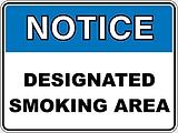 Notice Designated Smoking Area