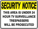 Security Notice This are is under 24 hour TV Surveillance Trespassers with be Prosecuted