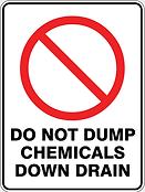 Do Not Dump Chemicals Down Drain