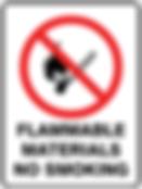 Flammable Materials No Smoking