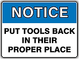 Notie Put Tools Back In Their Proper Place
