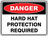 Danger Hard Hat Protection Required