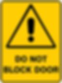 Do Not Block Door
