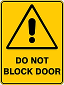 Do Not Block Door