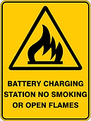 Batttery Charging Station No Smoking Or Open Flames