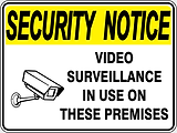 Security Notice Video Surveillance in use on theses Premises