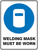 Welding Mask Must Be Worn
