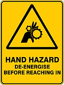 Hand Hazard DeEnergise Before Reaching In