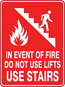 In Event of Fire Do Not Use Lifts Use Stairs