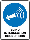 Blind Intersectio Sound Horn