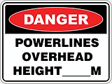 Danger Powelines Overhead Height ___M