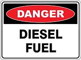 Danger Diesl Fuel