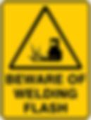 Beware of Welding Flash