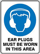 Ear Plugs Must Be Worn in this Area