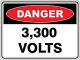 Danger 3,300 Volts