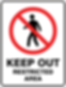 Keep Out Restricted Area