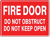 Fie Door Do Not Obstruct Do Not Keep Open