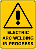 Electrial Arc Welding in Progress