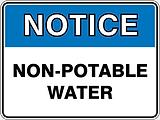 Notice Non-Potable Water