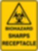 Biohazard Sharps Receptacle