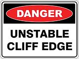 Danger Unstable Cliff Edge