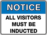 Notice All Visitors Must Be Inducted