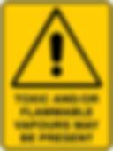 Toxic and/or Flammable Vapours May Be Present