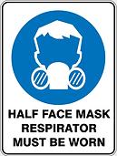 Half Face Mask Respirator Must Be Worn