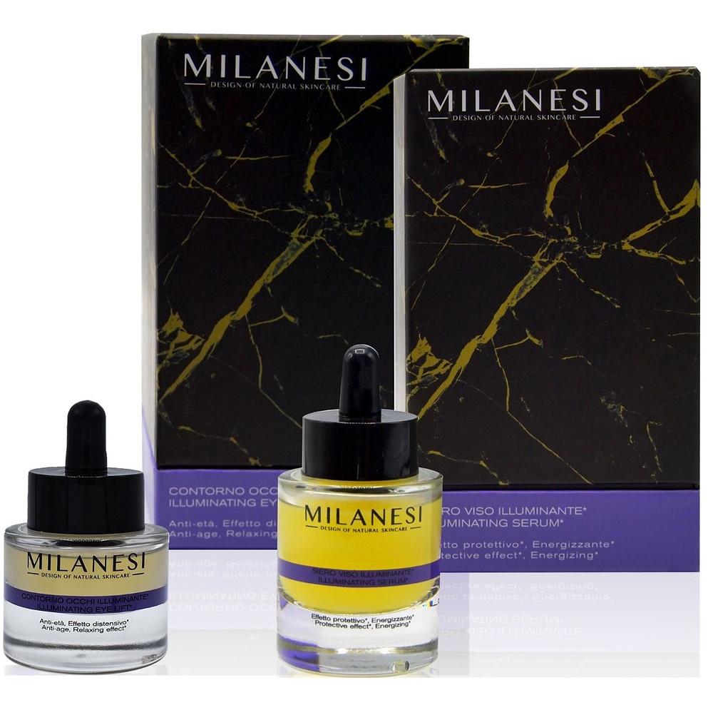 Milanesi skincare offre diversi prodotti contenetni le bacche di goji, come il siero viso illuminante e il contorno occhi illuminante brera