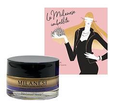 Crema illuminante + milanese imbellita .